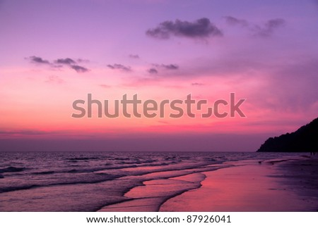 Purple Dusk - stock photo