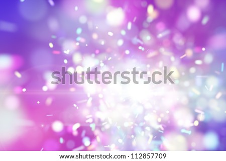 purple fairy explosion particles. Computer generated abstract background - stock photo