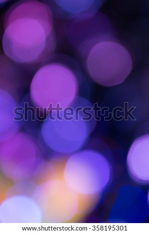 Purple Festive abstract background with bokeh lights and stars - stock photo
