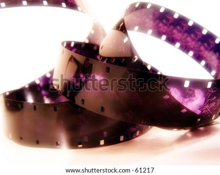 Purple Film - stock photo