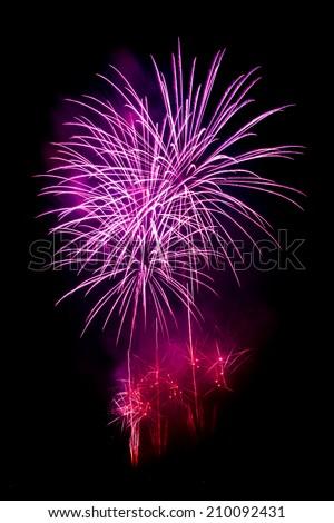 Purple fireworks - stock photo