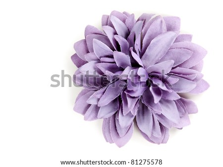 purple flower from tissue isolated on a white background - stock photo