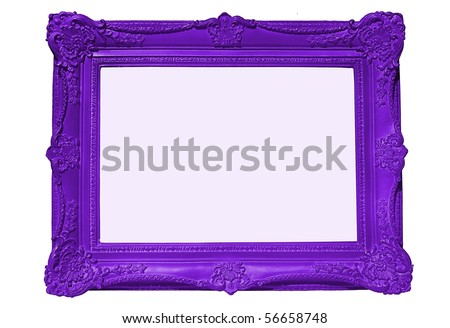 Purple Frame, blank for your copy - stock photo