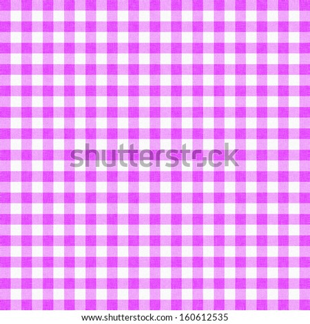 purple gingham tablecloth background or texture