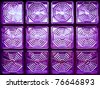Purple glass block - stock photo
