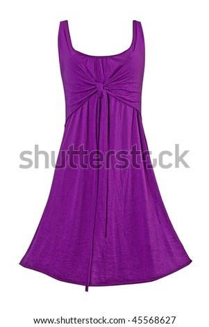 purple gown - stock photo