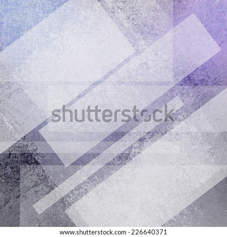 purple gray background design, white angled rectangle shapes with copyspace for text or title, transparent white layers in abstract artsy pattern - stock photo