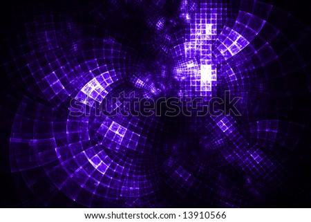 Purple Grid Distorted - Fractal Design - stock photo