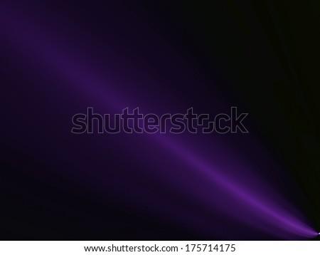 Purple Haze. Fractal Art, software generated digital image in purple on a black background. - stock photo