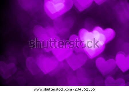 purple heart shape holiday photo background - stock photo