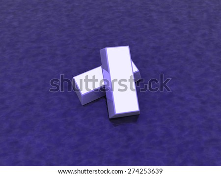 purple ingot - stock photo