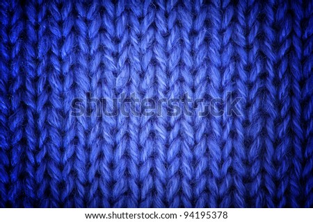 Purple knitted wool background - stock photo