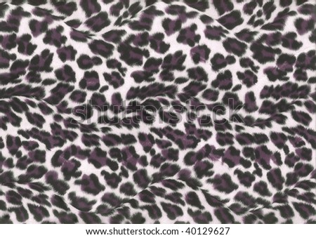 purple leopard fur - stock photo