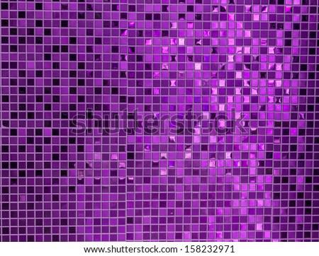 Purple mosaic - stock photo