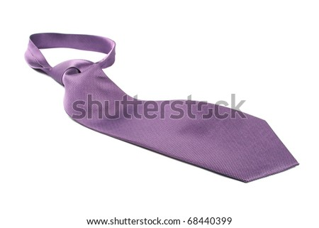 purple necktie - stock photo