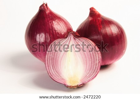 Purple Onions - stock photo
