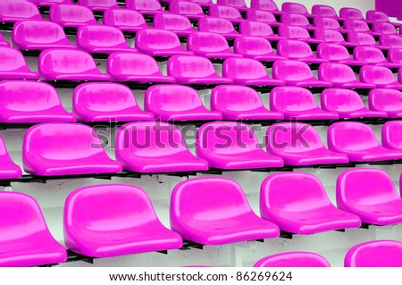 purple or violet seat at Thep Hasadin Stadium in Bangkok, Thailand - stock photo