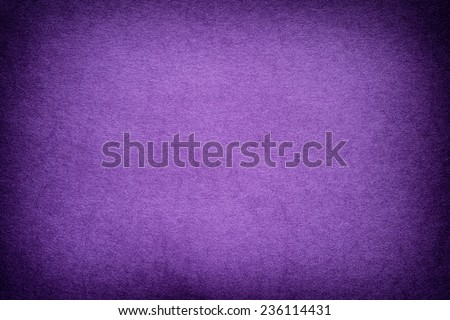 Purple paper background with vignette. - stock photo