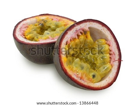 purple  passionfruit isolated on white background