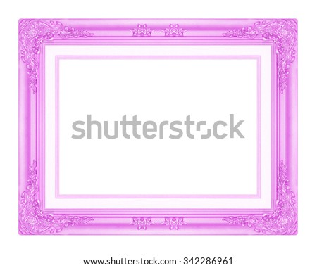 purple  picture frame isolated on white background. - stock photo