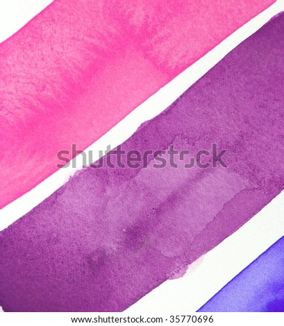 purple, pink and blue  paint stripe background - stock photo