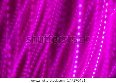 Purple pink dash line light background : long exposure technique, no digital retouch, line shape - stock photo