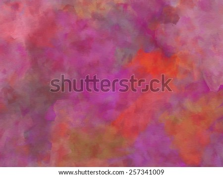 Purple Pink Orange Red Green Watercolor Paper Colorful Texture Background