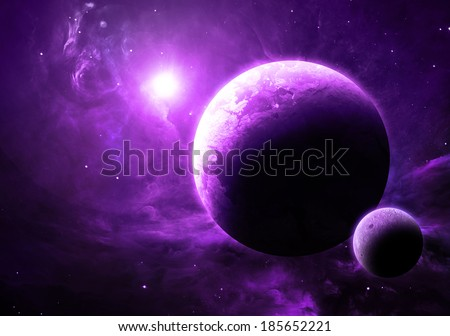 purple and blue planets - photo #27