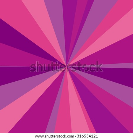 Purple, red and pink rays background.  illustration for your bright beams design. Sun theme abstract wallpaper. - stock photo
