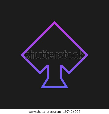 Purple rustrakehner color peaks on a black screen - stock photo