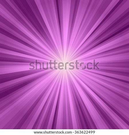 Purple shining rays coming out of a bright center - stock photo