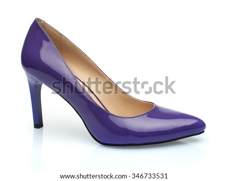 purple Shoe on side