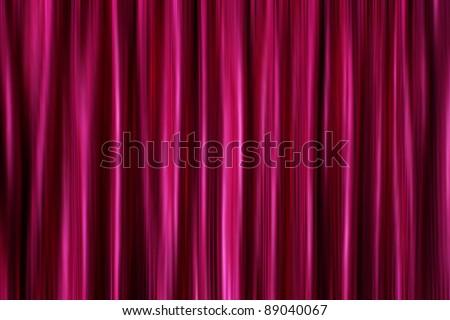 Purple silky satin curtains drapery background - stock photo