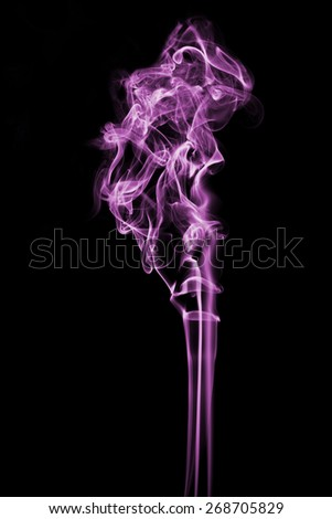 Purple smoke on a white background - stock photo