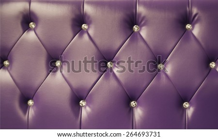 purple sofa leather background - stock photo