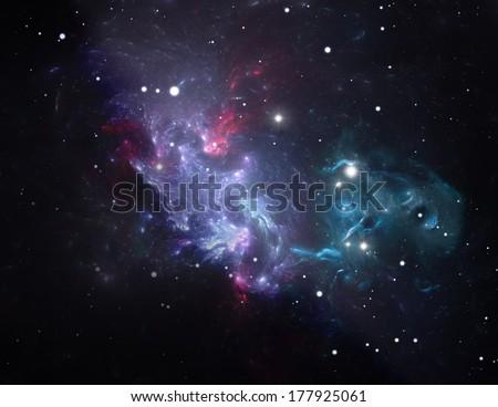 Purple Space Star Nebula Illustration