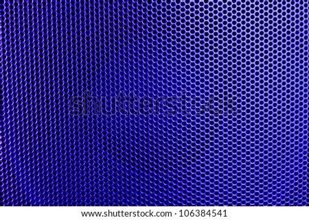 Purple speaker - stock photo