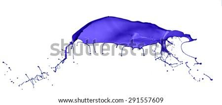 Purple splash isolated on white background - stock photo