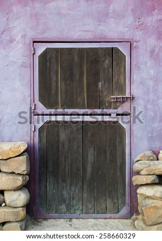 Purple Stable Door - stock photo