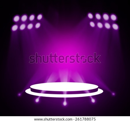 Purple stage theater background  - stock photo