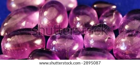Purple stones - stock photo