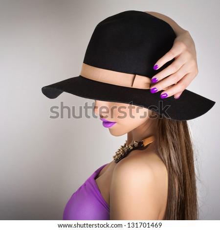 Purple summer style - stock photo