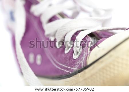 purple vintage sneaker - stock photo