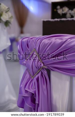 Purple Wedding Decorations - stock photo