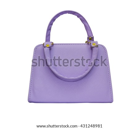 Purple woman purse isolated on white