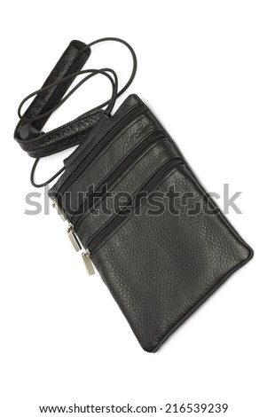 purse on the white background