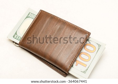 purse with money in dollars