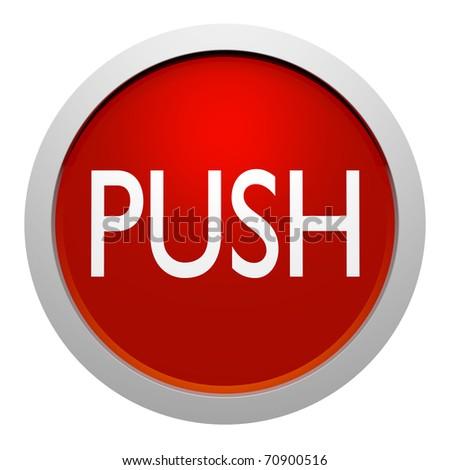 push botton sign - stock photo