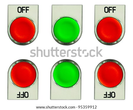 Push button switch - stock photo