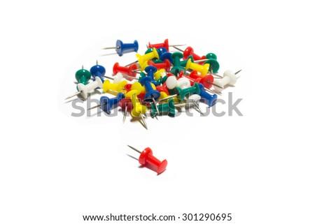 push pin - stock photo